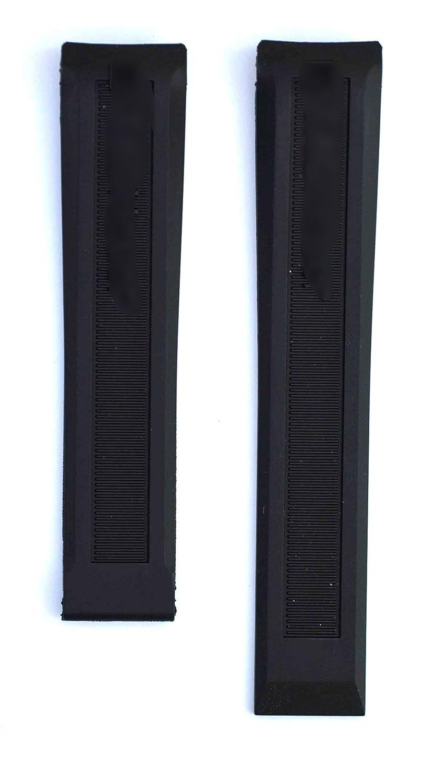 20 mmブラックゴム時計ストラップfor Aquaracer ft6029 wan211 X Watches tag144  B0796SQVQP
