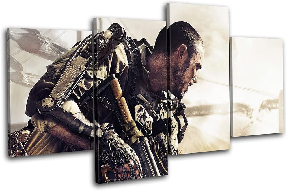 Amazon Com Bold Bloc Design Call Of Duty Adv Warfare Gaming 240x135cm Canvas Art Print Box Framed Picture Wall Hanging Hand Made In The Uk Framed And Ready To