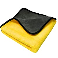 SOBBY Microfiber Cloth for Car Cleaning and detailing | Dual Sided, Extra Thick Plush Microfiber Towel Lint-free, 800 GSM, 40cm x 40cm (1)