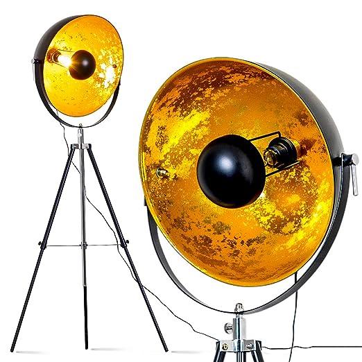 Standlampe Saturn Stehlampe Vintage In Xxl Mit Lampenschirm In