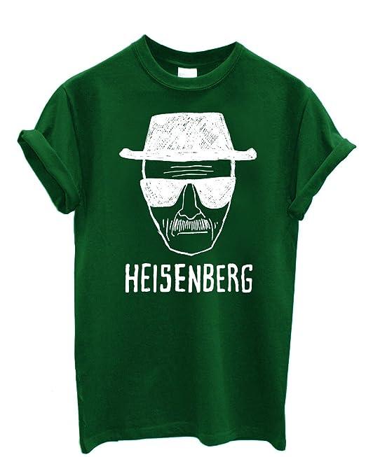 Camiseta Hombre Heisenberg camiseta Breaking Bad 100% algodon LaMAGLIERIA, S, Verde