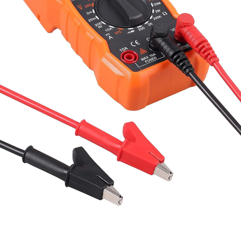 Ganchos de Prueba Neoteck 23 piezas Punta de Prueba de Mult/ímetroKit de Cables de Mult/ímetro y Actualizado con Sondas de Mult/ímetro Chapadas en Oro Reemplazables Pinzas de Cocodrilo