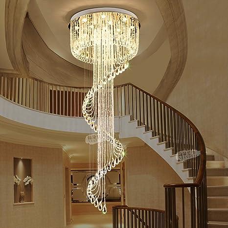 Amos Staircase Chandelier Duplex Villa Duplex Lobby Light