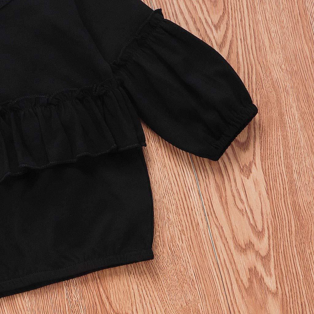 WEXCV Kleinkind Baby M/ädchen Kleidung Set Gefaltete Kante Solid Spielanzug Bowknot Haarband 3Pcs Herbst Prinzessin Niedlich Kinderkleidung Leopard Hosen