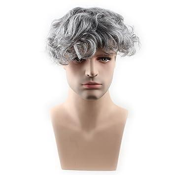 Amazon Com Sinoart Human Hair Men S Toupee Hairpiece Thin Skin