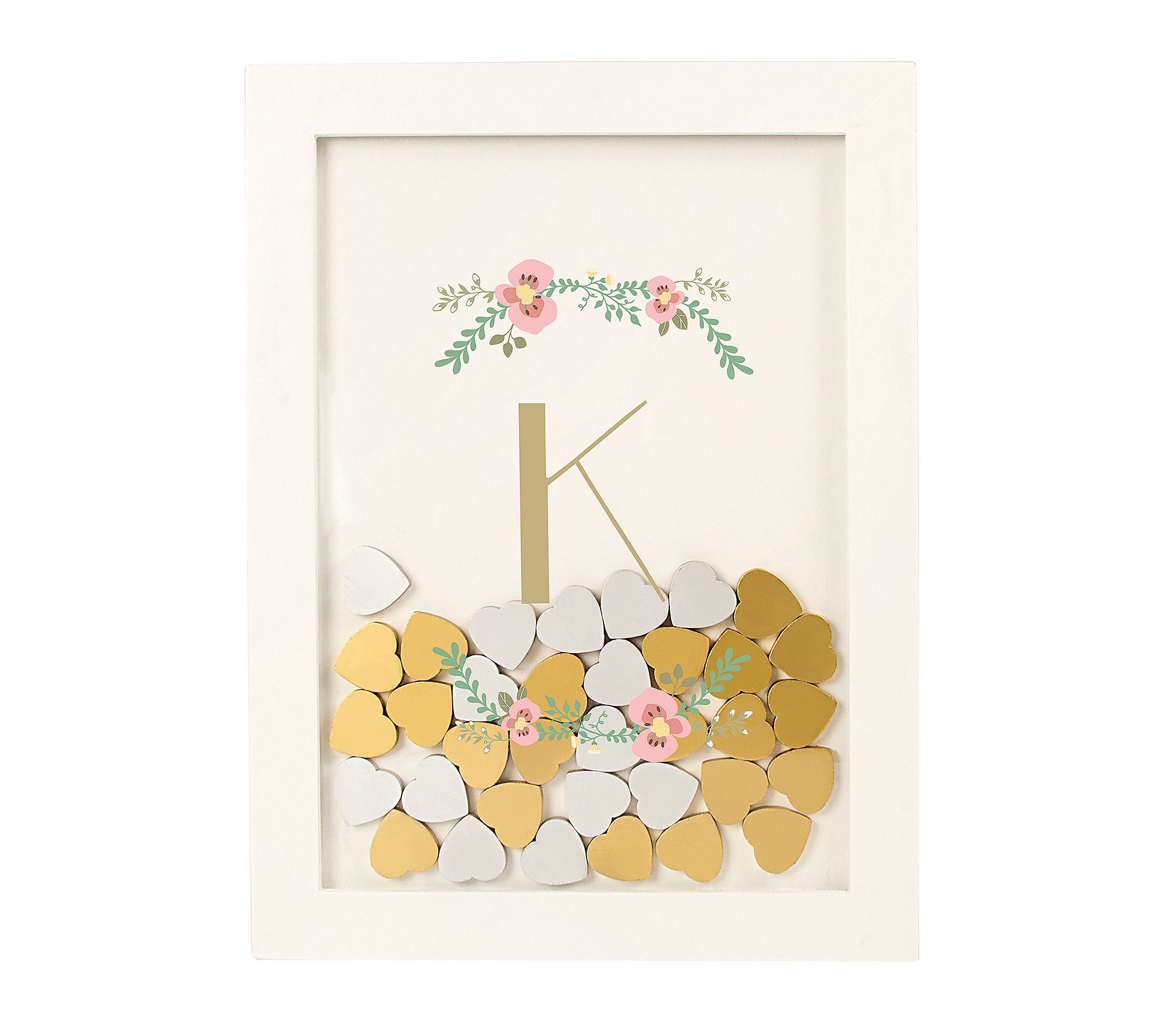 Cathy's Concepts Personalized Floral Heart Drop Guestbook D
