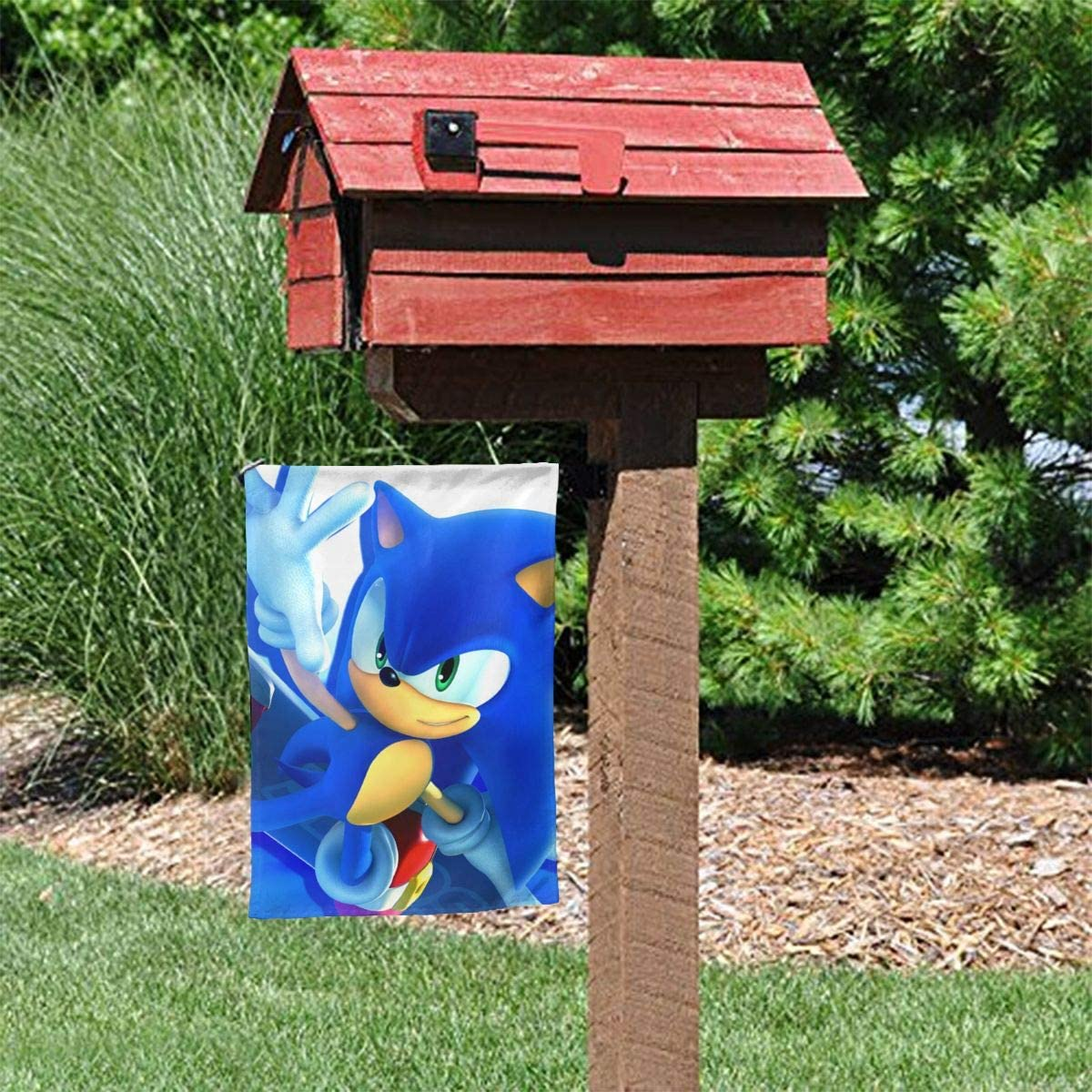 Amazon Com Richii Sonic The Hedgehog Home Garden Flag Double Sided Decorative Spring Summer Outdoor Yard Home Decorations Garden Outdoor