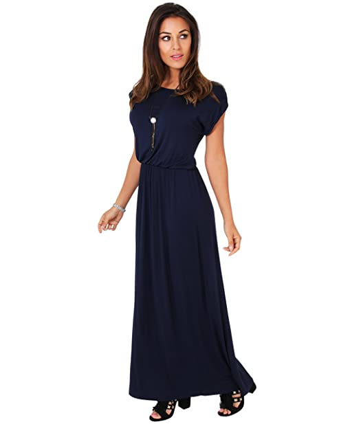 KRISP 3269-NVY-08 (Vestido Largo Punto)