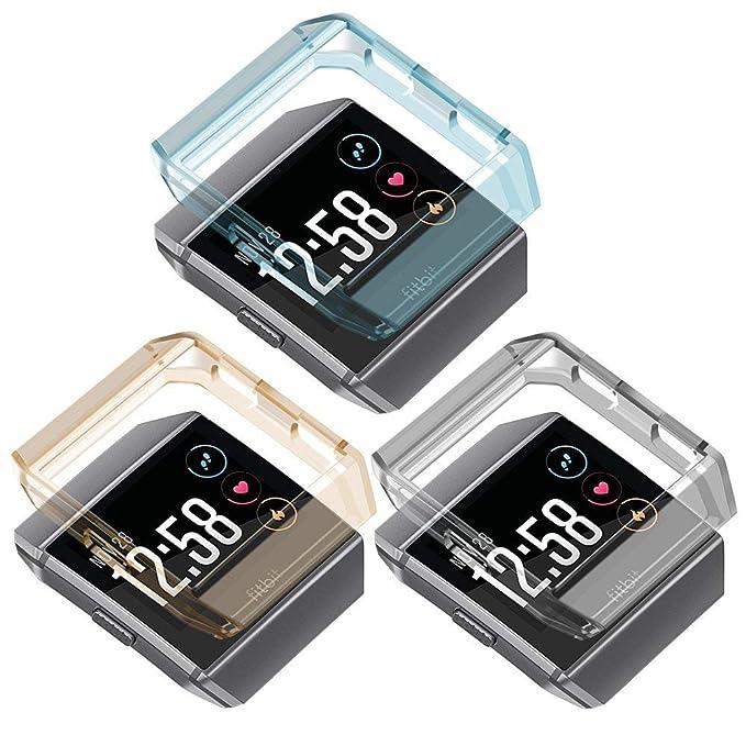 Para Fitbit Ionic caso pantalla greatgo suave a prueba de ...