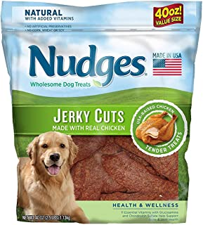 product image for An Item of Nudges Health Wellness Chicken Jerky Dog Treats, 40 oz. - Pack of 1 - Bulk Disc
