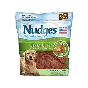 An Item of Nudges Health Wellness Chicken Jerky Dog Treats, 40 oz. - Pack of 1 - Bulk Disc