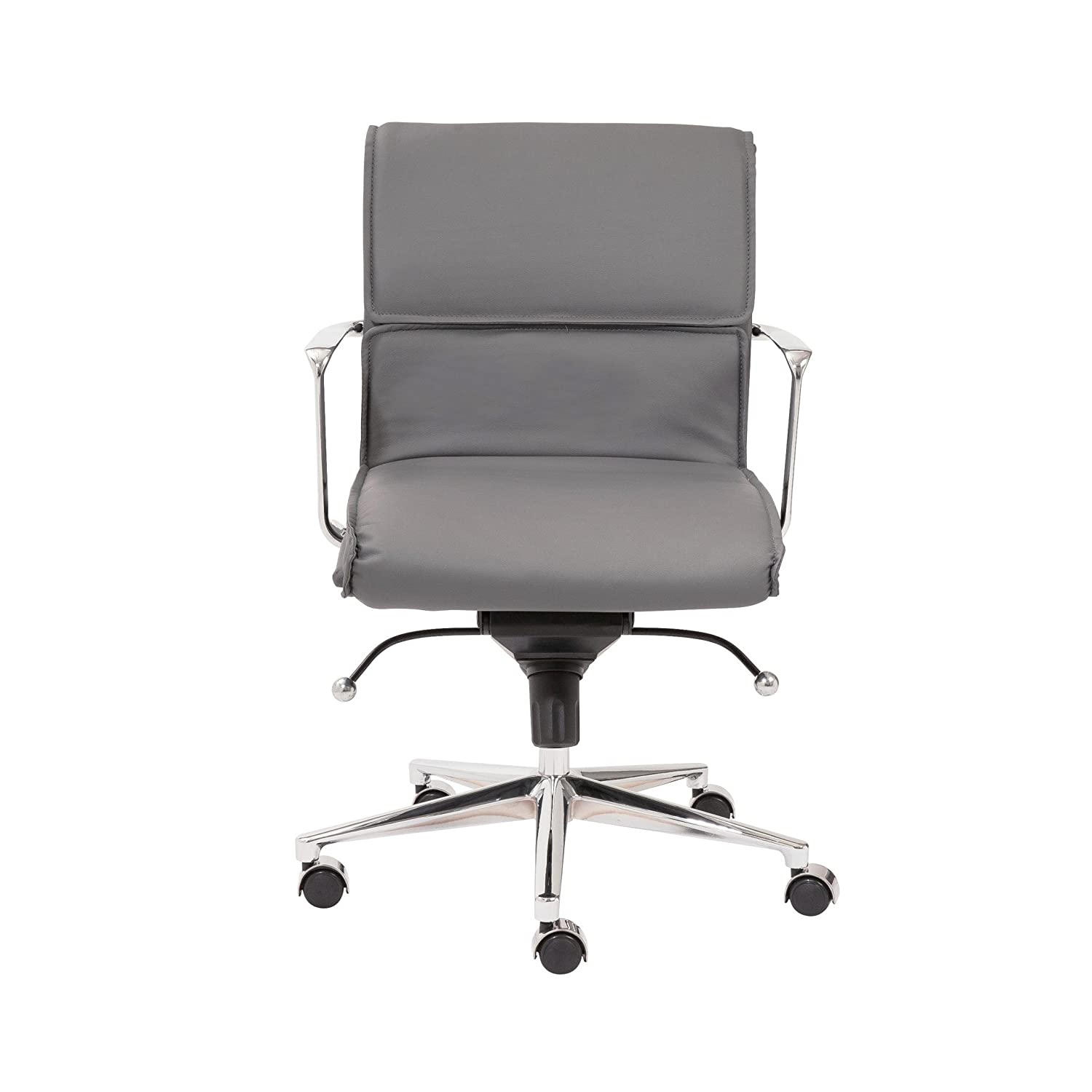 Prime Amazon Com Euro Style Leif Low Back Office Chair Gray Gmtry Best Dining Table And Chair Ideas Images Gmtryco