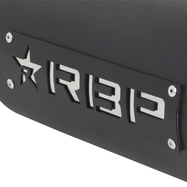 RBP RBP-56005 High Heat Textured Black Powder Coated Dual Badged Exhaust Tip