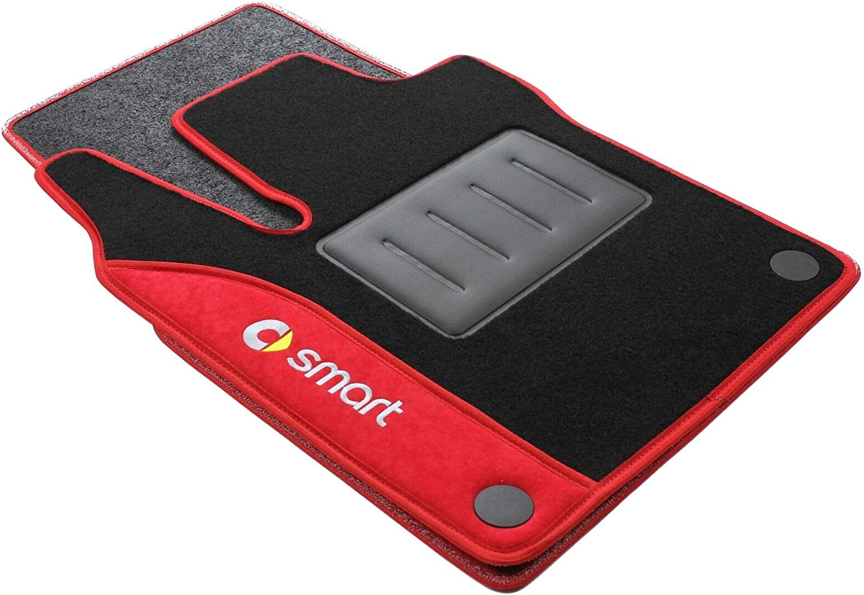Rosso COLOR0000049R Tappeti auto moquette antiscivolo Su misura 2 Ricami