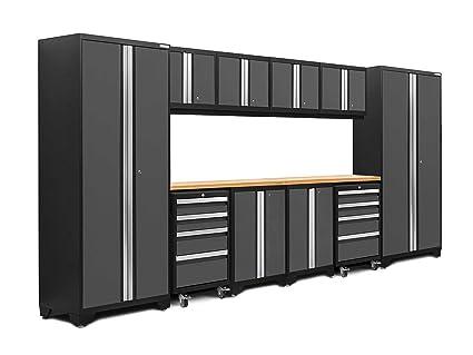 Merveilleux NewAge Products 50410 Bold 3.0 Garage Storage Cabinet Set With Worktop  (12 Piece)