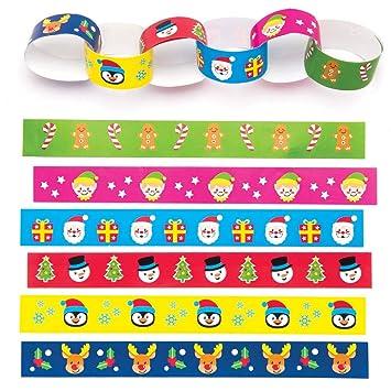Christmas Paper Chains Uk.Baker Ross Festive Paper Chains Pack Of 240 For Kids