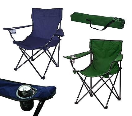 2971 Silla de camping y jardín plegable Miami con posa-vasos ...