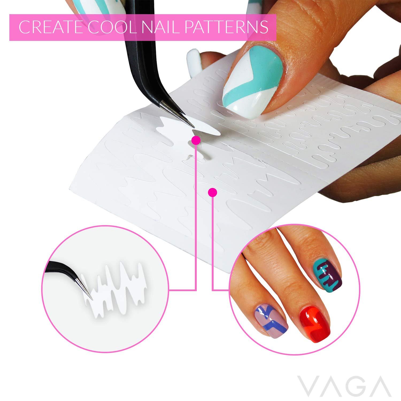 Amazon.com: VAGA 347pcs Nail Decals French Manicure Strips ...