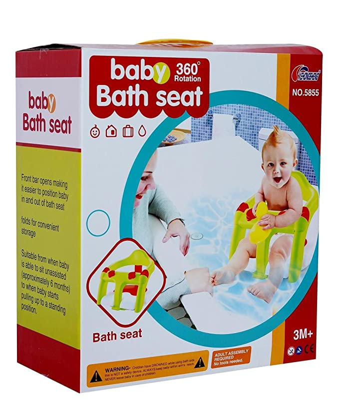 Buy Planet of Toys Foldable Baby Bath Shower Chair Training Seat ...