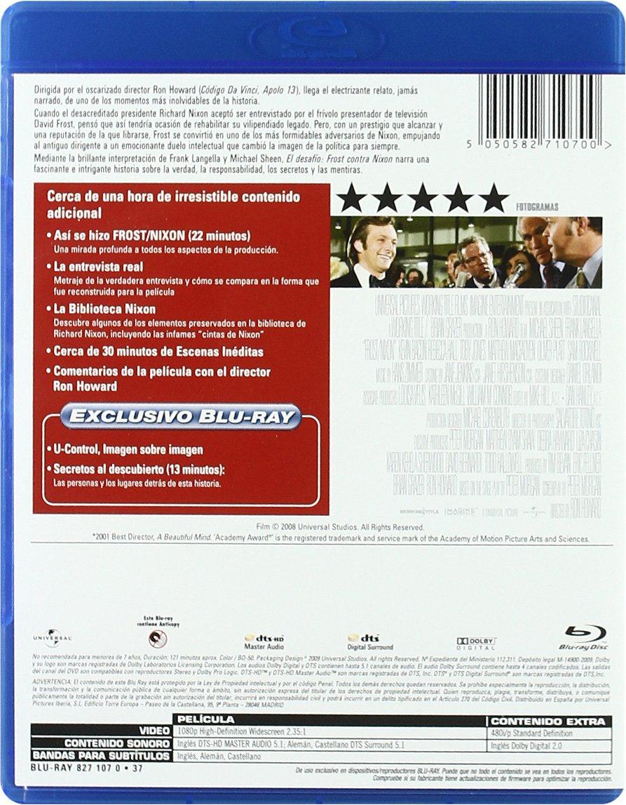 El desafío - Frost contra Nixon [Blu-ray]: Amazon.es: Frank ...