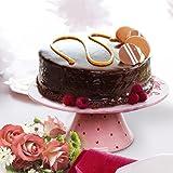 Pink & White 11.5 Inch Ceramic Cupcake & Cake Display Stand / Round Decorative Serving Platter - MyGift