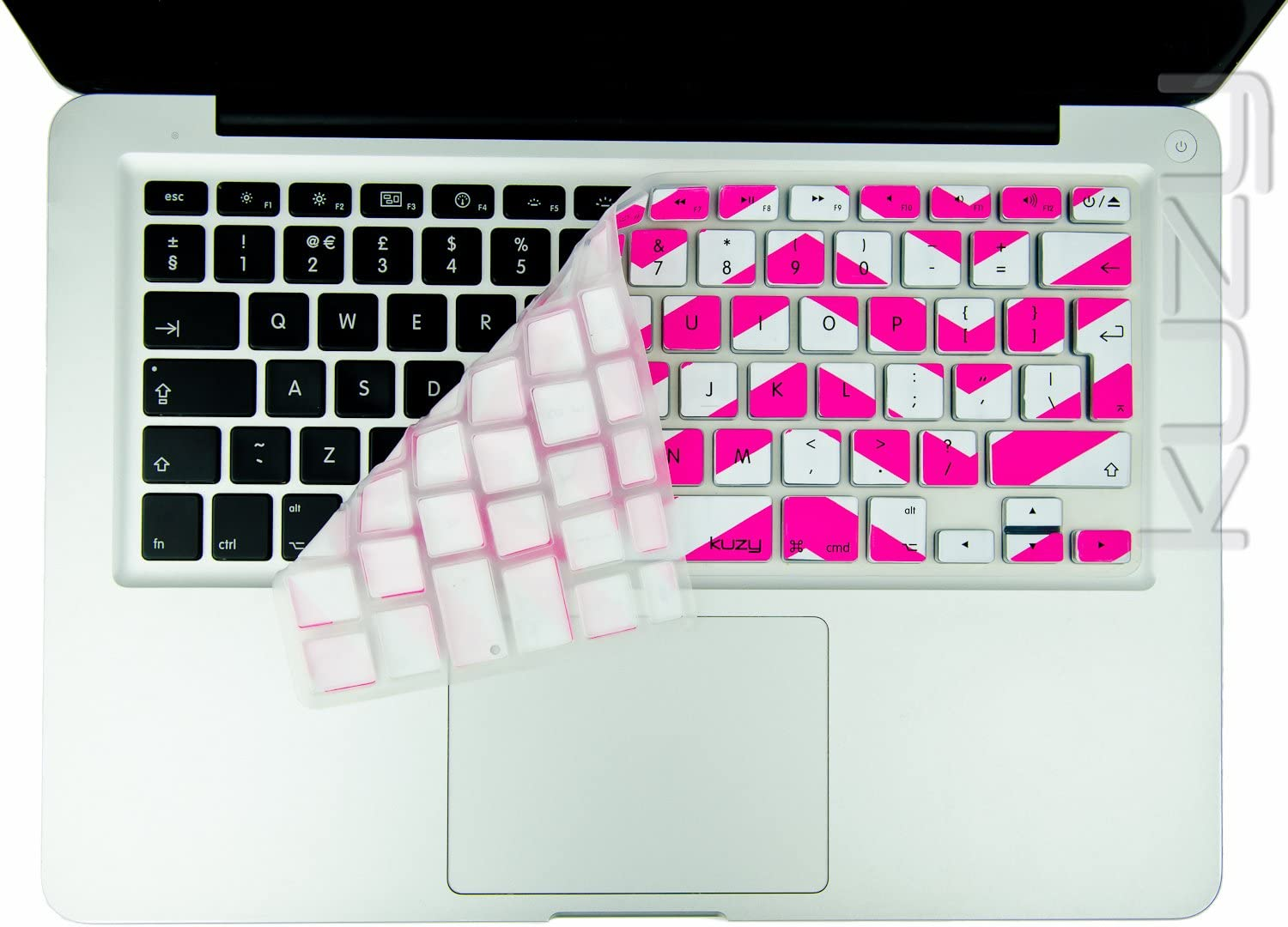 """Chevron Series Soft Blue N White Silicone Key Cover for Macbook 13/"""" 15/"""" 17/"""""""