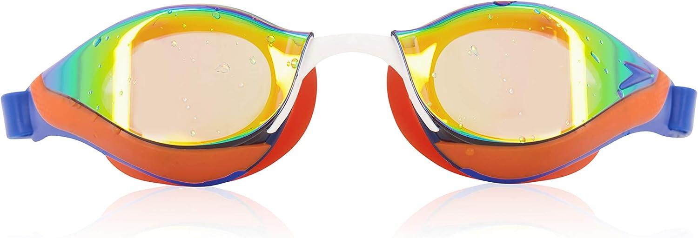 Speedo Unisex-Adult Swim Goggles Mirrored Fastskin Pure Focus