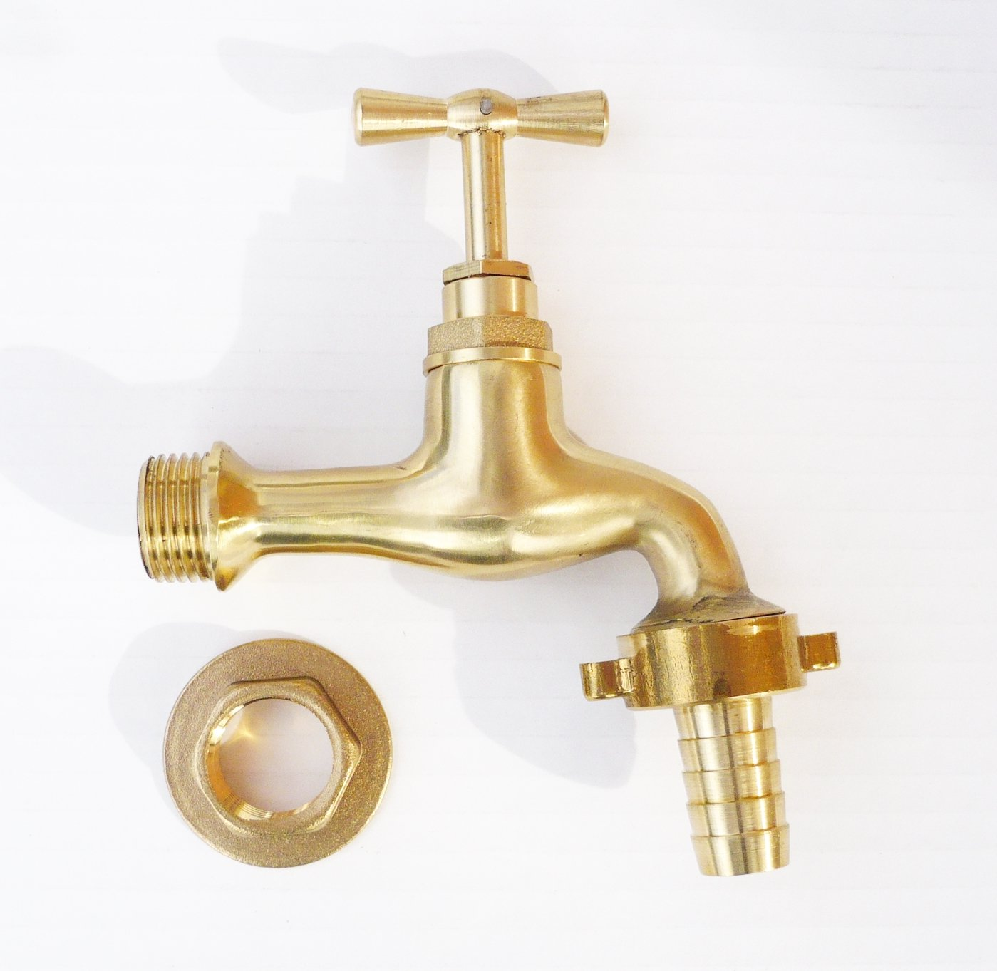 Antique Retro Style Polished Brass Bib Tap. 1/2\