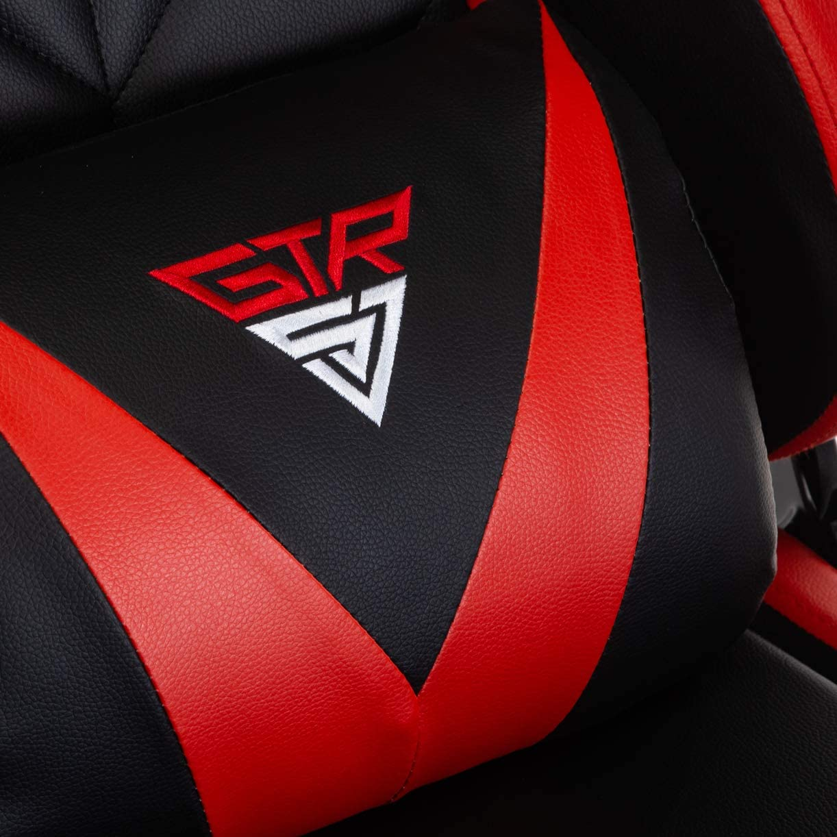 Gaming Chair with Footrest Ergonomic Recliner Computer Chair Racing Style Video Game Chair High-Back E-Sports Chair Red