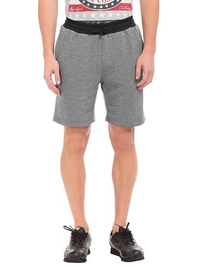 d40926253 U.S. Polo Assn. Men s Cotton Shorts (UAST0001 Dark Grey Grindle Large)