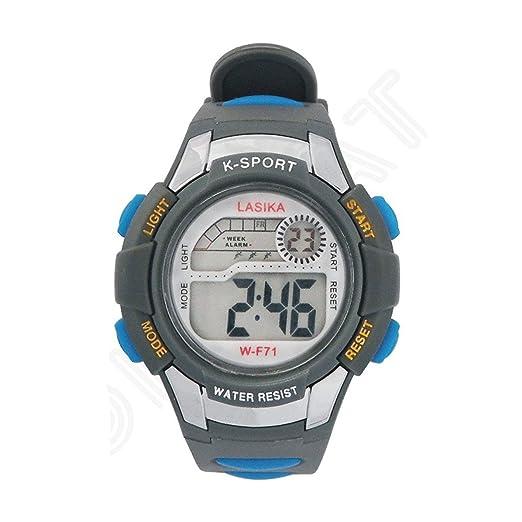 W-F71 Reloj de pulsera - LASIKA Reloj de pulsera digital para Natacion Deportes de