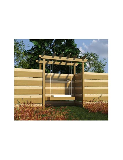amazon com build your own pergola with swing diy plans fun to