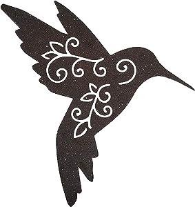 Xanter Black Distressed Metal Hummingbird (18 x 13 1/4 x 1/16 inches)