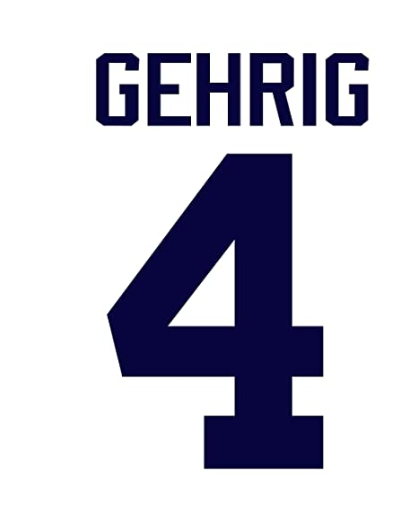 outlet store 01f8b 078de Lou Gehrig New York Yankees Jersey Number Kit, Authentic ...