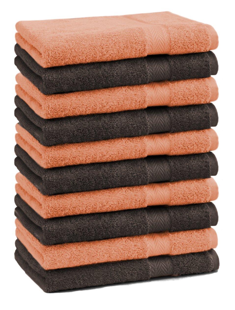 BETZ Set di 10 Lavette Premium Misura 30 x 30 cm 100/% Cotone Colore Arancione e Marrone Scuro