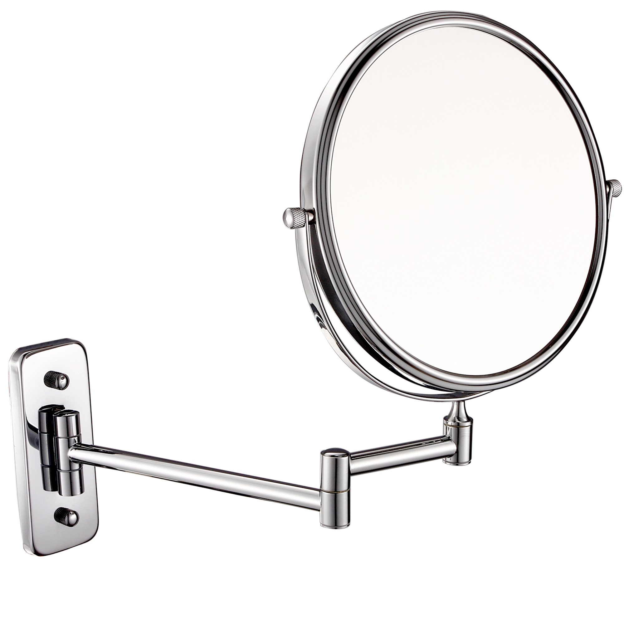 GuRun 8-inch double-sided Wall Mount Makeup Mirror with 10x Magnification,Chrome Finish M1407(8in,10x)