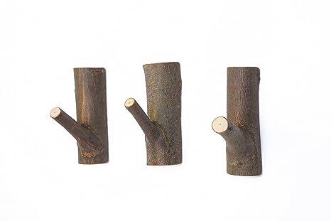 Amazon.com: Ganchos adhesivos de madera decorativos, ganchos ...