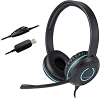 Cyber Acoustics USB Stereo Headset with Headphones and Noise Cancelling Microphone for PCs and Other USB Devices in The…