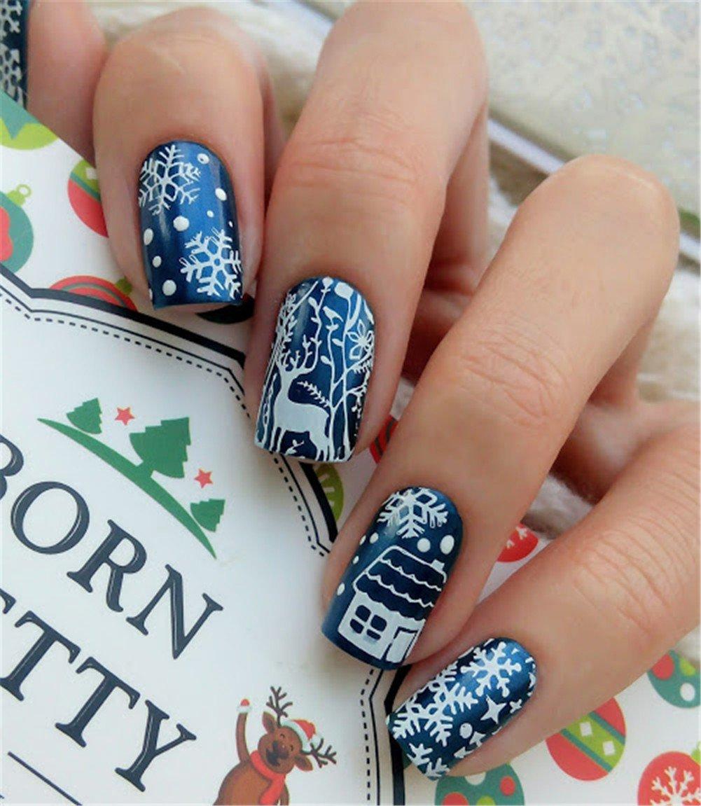 Born Pretty Nagel Schablonen Nail Art Stempel Plate Christmas ...