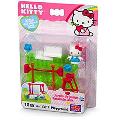Mega Bloks Hello Kitty Pretty playground (10 pcs): Toys & Games