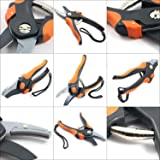 """Apthrill 8"""" Professional Anvil Pruning Shears, Hand Pruners, Garden Shears, Garden Clippers – 100% Life Time Guarantee"""