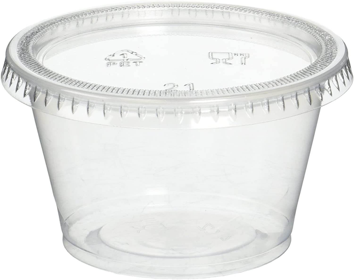 Reditainer Plastic Disposable Portion Cups Souffle Cup with Lids, 4-Ounce, 100-Pack