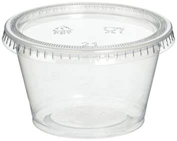Amazon.com: Reditainer Plastic Disposable Portion Cups Souffle Cup With  Lids, 4 Ounce, 100 Pack: Kitchen U0026 Dining
