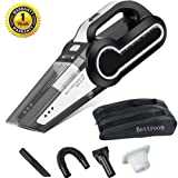 Bettroom Car Vacuum Cleaner High Power Strong Suction 4000 PA 120W DC 12V Wet Dry Handheld Portable Automotive Cleaners Tools for Cars with 16.4FT (5M) Cord Multiple Attachments