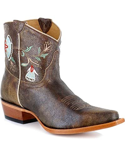 floral cowgirl boots   Macie Bean Snip Toe Floral Embriodered Western Boot