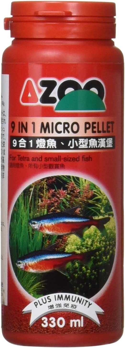 Azoo 9 in 1 Micro Pellet for Tetra and Small-Sized Fish Food 330ml