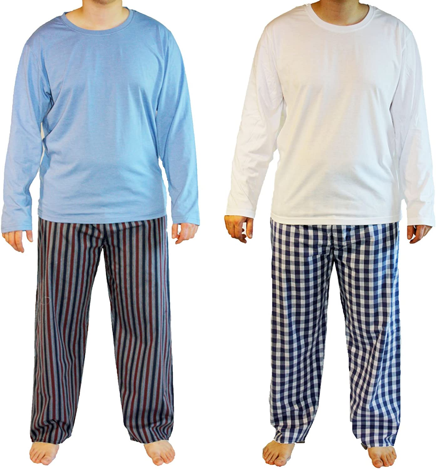 New Men/'s 2 Pack Haigman Poly Cotton Pyjama PJ Loungewear Bottoms Pants M-2XL