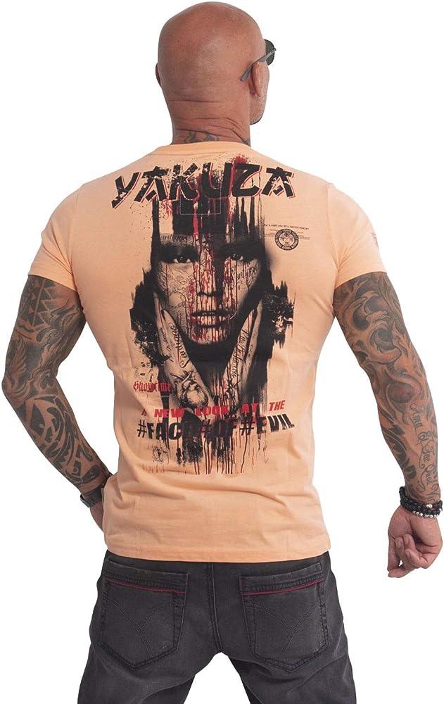 Yakuza Men T-Shirt Face of Evil, Talla:S, Color:Papaya Punch ...