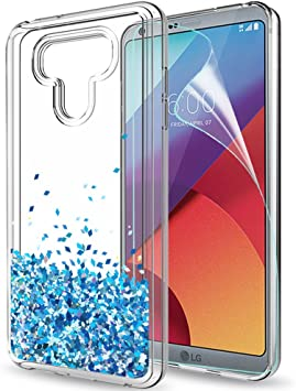 LeYi Funda LG G6 / LG G6 Plus Silicona Purpurina Carcasa con HD ...