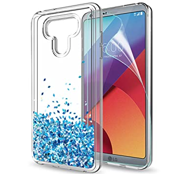 LeYi Funda LG G6 / LG G6 Plus Silicona Purpurina Carcasa con HD Protectores de Pantalla